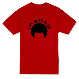 $enCountryForm.capitalKeyWord UK - I'm With Kap Afro Hair Silhouette Men's Red T-shirt