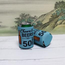 $enCountryForm.capitalKeyWord Australia - 200pcs lot Collapsible Can Cooler Print Logo Folding Stubby Holder 3mm Thickness Neoprene Stubby Holders Beer Cooler Sleeve