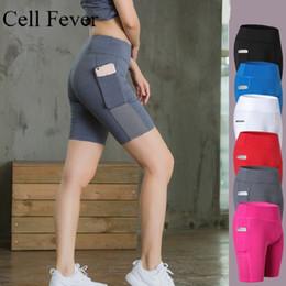 $enCountryForm.capitalKeyWord Australia - High Waist Yoga Short with Pocket Sport Shorts For Women Tummy Control Workout Running Compression Shorts Non See-Through XS-2XL