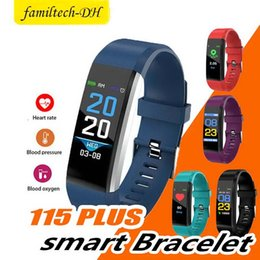 $enCountryForm.capitalKeyWord Australia - Color Screen ID115 Plus Smart Bracelet Fitness Tracker Pedometer Watch Band Heart Rate Blood Pressure Monitor Smart Wristband Sport Bracelet