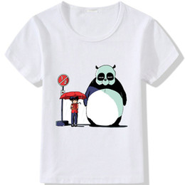 White Panda T Shirt Australia - Panda t shirt Totoro rain wait short sleeve tops Cos design unisex fastness tees Colorfast print clothing Pure color modal tshirt