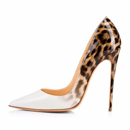 $enCountryForm.capitalKeyWord Canada - Women Fashion Leopard White Slip On Pointed Toe Shoes Sexy Designer Patent Leather Shallow Shoes Dress High Heel Pumps Free Ship