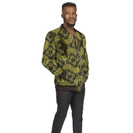 Wholesale customize jackets resale online - African man s Jacket bright wax print stand collar coat dashiki baseball jackets fot children Africa clothing customized