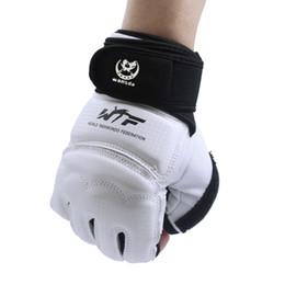 $enCountryForm.capitalKeyWord UK - New Kick Boxing Gloves Mma Gloves Pu Leather Muay Thai Training Gloves Mma Boxer Black White Fight Boxing Equipment Half Mitts