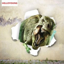 $enCountryForm.capitalKeyWord Australia - Stereoscopic 3D through walls dinosaur muurstickers for kids rooms Bedroom home decor Children's room Stickers