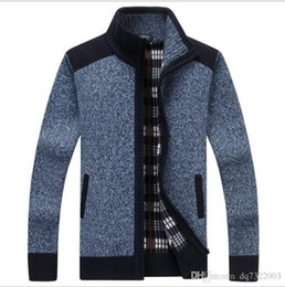 White extra long coat online shopping - Autumn Winter Men s SweaterCoat Faux Fur Wool Sweater Jackets Men Zipper Knitted Thick Coat Casual Knitwear M XL
