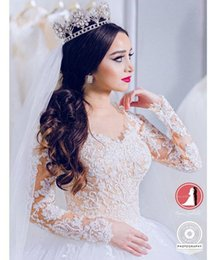 Cathedral Style Wedding Dresses Australia - Vintage Stunning Long Sleeves Wedding Dresses Saudi Arabic Dubai Style 2019 New Off Shoulders Lace Appliques Bridal Gowns Formal Vestidos