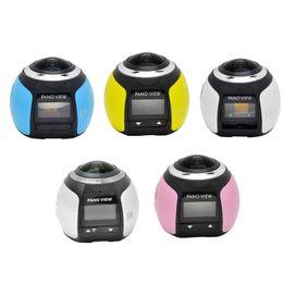 Camera V1 Australia - V1 4K Camara 360 Degrees Panoramic Lens Camera HD 0.96 inch WiFi Photo Camera
