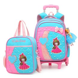 $enCountryForm.capitalKeyWord NZ - New Removable Children School Bags With 2 6 Wheels For Girls Trolley Backpack Kids Wheeled Bag Bookbag Travel Luggage Mochilas