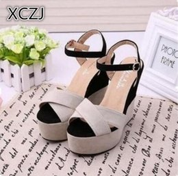 1b7990a6c124f8 Designer Dress Shoes 2019 summer new female sandals high-heeled slope with  color matching muffins thick waterproof platform women A24