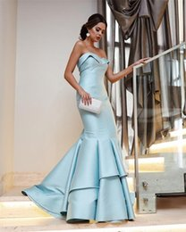 $enCountryForm.capitalKeyWord Australia - Pretty Long Evening Dresses abiye Sky Blue Mermaid Prom Gown Sweetheart Formal Dress Gowns Party Custom Made Abendkleider