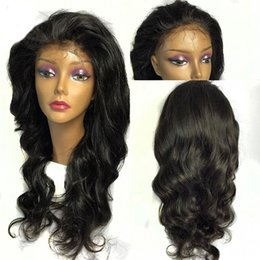 $enCountryForm.capitalKeyWord NZ - Hand-made 130% Density Remy Vrigin Wigs Natural Color Brazilian Body Wave Wig Human Hair Full Lace Cap Swiss Lace