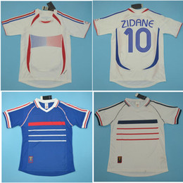 zidane jersey france NZ - Thai 1998 FRANCE Retro Jerseys ZIDANE Soccer Jersey HENRY Vintage classical 2006 Football Shirt Trezeguet maillot de foot