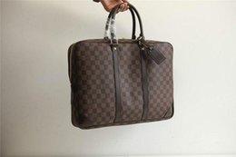 $enCountryForm.capitalKeyWord Canada - Small Briefcase N41124 Damier Ebène Canvas Men Handbags Top Oxidized Real Leather Iconic Shoulder Totes Cross Body Business Bags