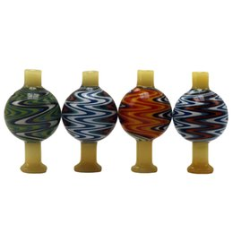 $enCountryForm.capitalKeyWord NZ - DHL Free Wig Wag Glass Dab Tool Bubble Carb Cap With US Color 28mm OD Reversal Bong Carb Caps For Universal Quartz Banger
