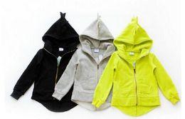 Acrylic Jackets Australia - Dinosaur Coat Kids Animal Blouse Cartoon Long Sleeve Hoodies Ins Jacket Tops Outwear Garment Sweatshirts Jumper Baby Kids Clothing