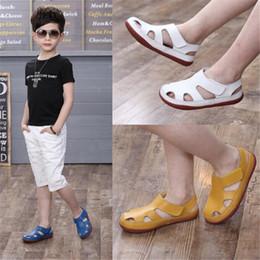 Color Plastic Sandals Australia - Hot Sale Kids Sandals Genuine Leather Shoes For Girls Y19061906