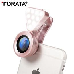 $enCountryForm.capitalKeyWord Australia - Turata 3 In 1 Phone Lens, Led Flish Light Lens For Iphone Se X 8 7 6 6s Fish Eye Lens 0.4-0.6x Wide Angle+10x Macro Clip-on Lens J190704