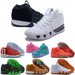 separation shoes f6532 96728 2018 New Kyrie Kids Basketball Shoes For Men Irving IV 4 Black Moon White  Gold Finals Sports Training Sneakers Kyries Shoe Chaussures