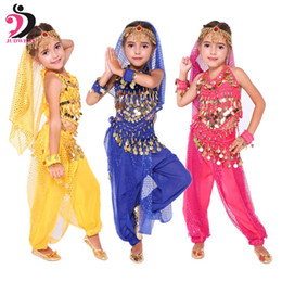Wholesale dancers dresses for sale - Group buy Judweny Kids Bollywood Belly Dance Costumes Set Oriental Dance Children Dresses India Belly Clothes Bellydance Girl Dancer