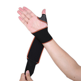 Dark Cycles NZ - Aolikes Sports Wrist Bands Wrist Support Strap Wraps Hand Sprain Recovery Wristband For Cycling Tennis Gym Accessories