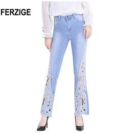 6ecd2f6f0be Discount embroidered jeans women size - FERZIGE 2018 Autumn Newly Women  Jeans High Waist Stretch Flare