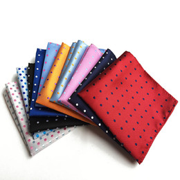 handkerchief child women Australia - Dot Handkerchiefs Woven Colorful Printing Round Pocket Square Mens Casual Circle Square Pockets Handkerchief Towels 25x25cm