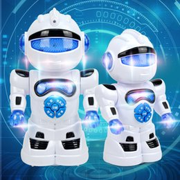 music robots NZ - Intelligent Music Robot Electric Universal Lighting Bilingual Storyteller Children's Multifunctional Toys Wholesale
