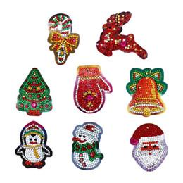 Canvas frame kit online shopping - 8pcs D DIY Full Drill Diamond Painting Christmas Diamond Embroidery Key Chain DIY Craft Rhinestone Embroidery Kit