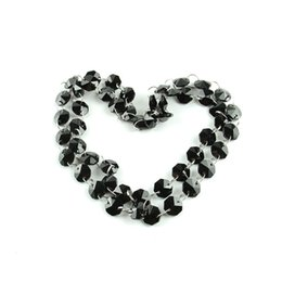 $enCountryForm.capitalKeyWord UK - 14mm Black Octagon Beads Garland Strand With Silver Rings Connectors Decoration Of Family Weddings Free Shipping