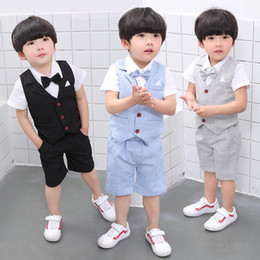 Boys Summer Suits For Wedding Australia - Baby Clothes Boys suits for wedding Kids British Wind Birthday Dress Boygentleman suit Children clothing disfraz blazer pants
