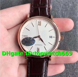 luxury brown leather watch Australia - MKS Top Luxury 356504 Watch Automatic 18K Rosegold Case White Dial Brown Leather Strap 2892 Automatic Movement 28800vph Mens Watch