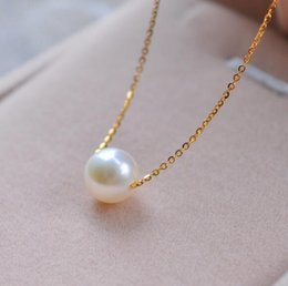 $enCountryForm.capitalKeyWord NZ - New Simple Fashion Top Quality Pearl Jewelry Choker Necklace Gold Chain Statement Necklace & Pendants Gifts For Women
