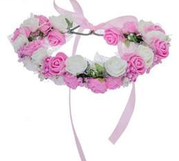 $enCountryForm.capitalKeyWord UK - Women Bezel Flowers On Head Girls Flower Crown Wreath Wedding Bridal Hair Accessories Double Rose Floral Headband