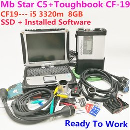 Laptop Mode Tools Australia - Hot MB Star C5 With SSD laptop cf-19 i5 3320m 8GB with MB Star SD C5 SD connect diagnostic tool 2018.12 c5 Software Expert Mode