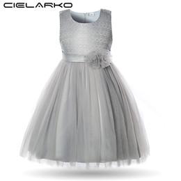 $enCountryForm.capitalKeyWord UK - Cielarko Elegant Flower Girls Dress Lace Children Wedding Party Ball Gowns Kids Birthday Frocks Baby Dresses Clothes For Girl J190505