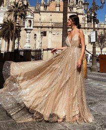 $enCountryForm.capitalKeyWord Australia - Lace dress sexy V-neck sling dress long skirt multi-layer light yarn chiffon sequins nightclub party Luxury Designer catwalk wedding