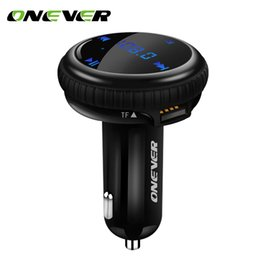 bluetooth finder NZ - Onever Bluetooth Car Kit Music Player FM Transmitter Modulator Car GPS Finder tracking Locator 2.1A Dual USB Charger