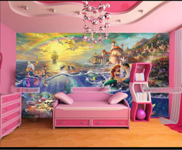 $enCountryForm.capitalKeyWord Australia - custom size 3d photo wallpaper living room mural cartoon sea mermaid oil painting kids picture sofa TV backdrop wallpaper non-woven sticker