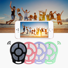selfie stick monopod zoom Canada - Button Zoom Bluetooth Button Shutter Remote Control Wireless Self-Timer Camera Phone Monopod Selfie Stick Shutter Controller 5 key buttons