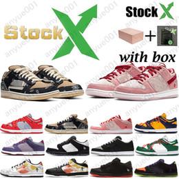 2020 Travis Scotts SB Dunk baixa Designer Sneakers Diamante Raygun Tie Dye Lobster Dia dos namorados Mulheres Homens Casual Sports Shoes frete grátis em Promoção