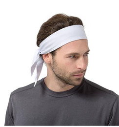Back Hair Men Australia - Solid Cotton Tie Back Headbands Stretch Sweatbands Hair Band Moisture Wicking Workout Men Women Bands 2019