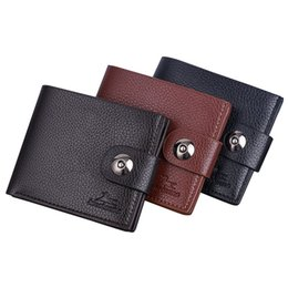 small pocket coin holder UK - Vintage Leather Hasp Small Wallet Coin Pocket Purse Card Holder Men Wallets Money Cartera Hombre Bag Male Clutch