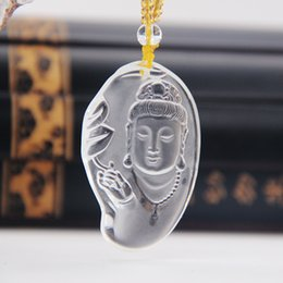 thailand necklaces Australia - New coming Kwan yin buddha head pendant with crystal bead chain for crystal buddhism jewelry and white temple thailand