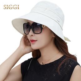$enCountryForm.capitalKeyWord Australia - Fancet Cotton Summer Sun Hat For Women Uv Upf50+ Bucket Cap Chapeu Feminino Praia Chapeau Femme Packable Fashion Elegant 89055 Y19070503