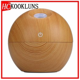 light diffuse Australia - mini usb 130ml Air Humidifier Wood Grain Aroma Diffuse Desk Humidificador decoration Essential Oil Mist Maker LED Light for Home