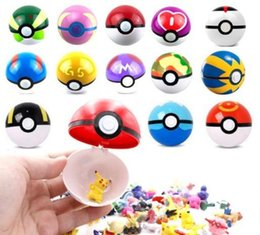 Masters Figure Australia - New Arrival 13 Types Pikachu balls 7cm Anime Ball with Action Figures ABS Super Master Elf Ball Toys Different pokBall Mini Model dhl