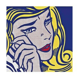 Girl Painting Hd Australia - Roy Lichtenstein Crying Girl High Quality Hand Painted &HD Print Pop Portrait Wall Art Oil Painting On Canvas Home Decor Multi sizes R18
