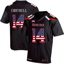 $enCountryForm.capitalKeyWord UK - Mens Custom Dylan Cantrell Football Jersey Texas Tech USA Flag Fashion Print High Quality Stitched College American Football Jerseys