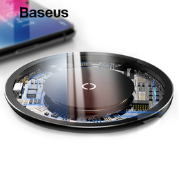 Qi For Iphone Australia - Baseus 10w Qi Wireless Charger For Iphone X xs Max Xr 8 Plus Visible Element Wireless Charging Pad For Samsung S9 S10+ Note 9 8 T190625